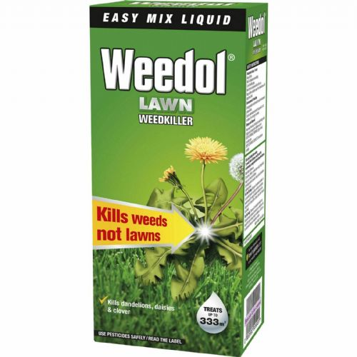 Weedol Lawn Weedkiller 500ml treats  up to 333sqm
